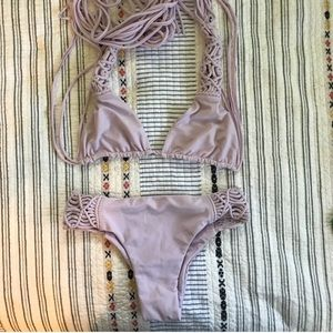 Mikoh Lavender Bikini - Small Top and Medium Btm